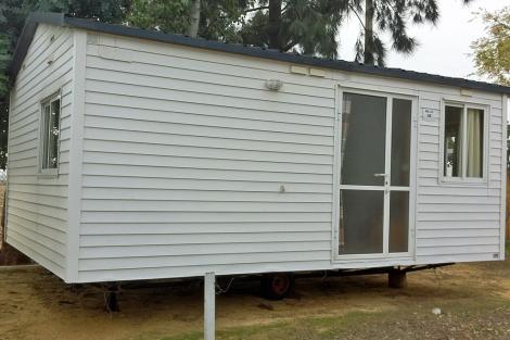 Una 'casa nómada', más conocida como 'mobile home'. | Clara Fajardo