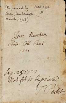 Uno de los textos digitalizados de Newton. | Univ. Cambridge