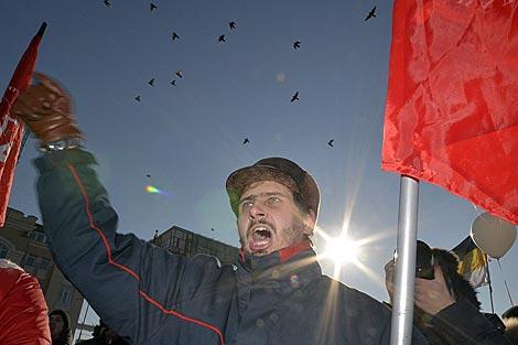 Un momento de la marcha en Vladivostok. | Foto: Reutes