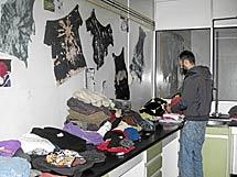 Espacio dedicado a taller textil.   E.O.