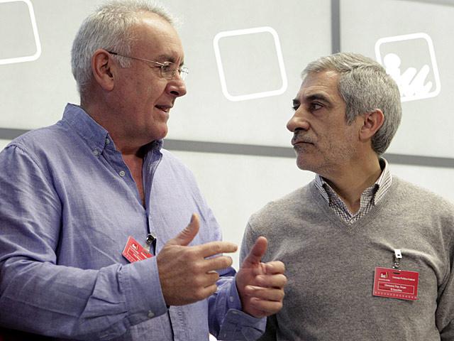 Cayo Lara y Gaspar Llamazares en el Consejo Político de IU, a principios de diciembre. | Efe