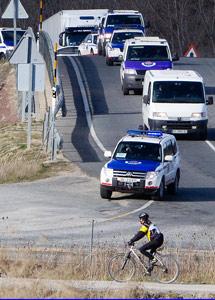 El convoy de la Ertzaintza.   Mitxi