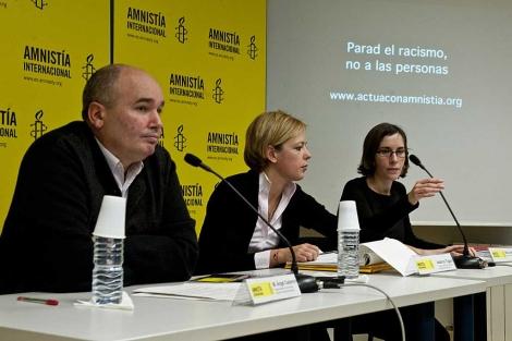 Rueda de prensa de Amnistía Internacional en Madrid.   Gonzalo Arroyo.