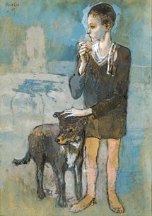'Niño con un perro', de Picasso.