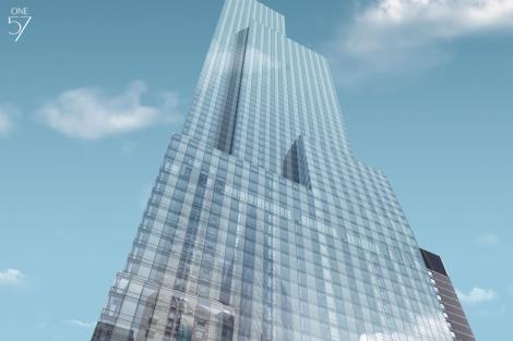 Recreación del 'One 57', edificio de 90 plantas frente a Central Park. | One57.com