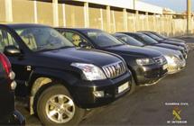 Vehículos intervenidos por la Guardia Civil.   Efe