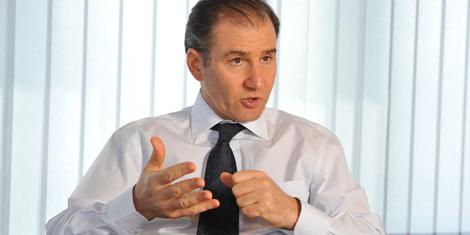 Ivan Glasenberg en la sede de la compañía en Suiza.   Afp