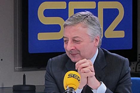 José Blanco, durante la entrevista.   Foto: Cadena Ser