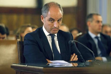 Francisco Camps, durante su declaración en el TSJ. | Pool