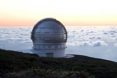 El Gran Telescopio de Canarias (GTC), sobre las nubes de La Palma. | IAC