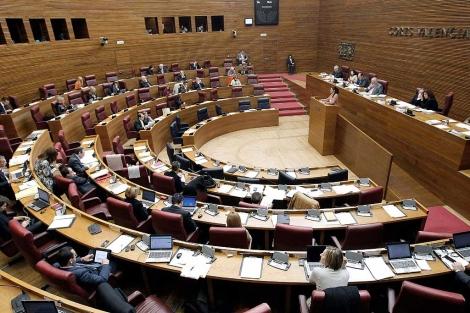 El hemiciclo de las Cortes Valencianas, este lunes | Efe