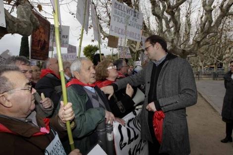 Joan Herrera se ha solidarizado con los manifestantes. | Antonio Moreno