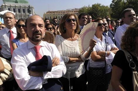 Juan Bravo, Miguel Ángel Villanueva y Ana Botella, en una imagen de archivo. (EM)