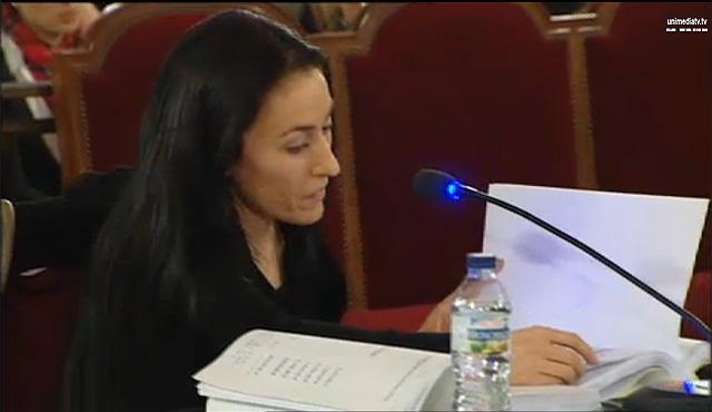 La ex cajera de Forever Young María Calero ante el TSJ.   Unimedia TV