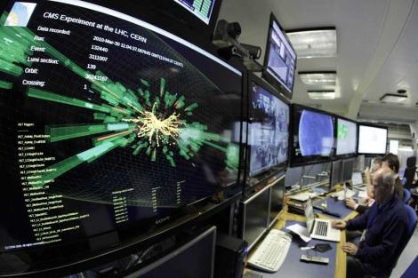 Un gráfico muestra las colisiones en un laboratorio del CERN. | Reuters