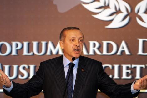 El primer ministro turco, Recep Tayyip Erdogan, en Estambul.   Afp