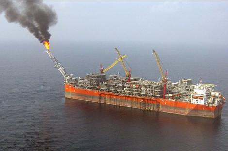 La unidad de extracción Bonga, a 120 kilómetros de la costa de Nigeria. | Afp