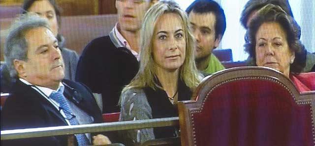 Alfonso Rus, Sonia Castedo y Rita Barberá en una sesión del juicio | Benito Pajares