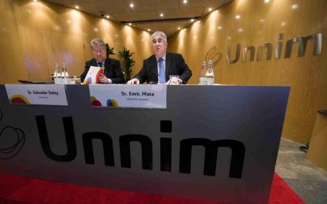 Presentación de cuentas de Unnim, que acaba de anunciar pérdidas.   Rudy