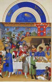 Enero, del calendario de 'Las horas del Duque de Berry'.