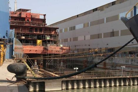 E ferry 'Viking Line', uno de los últimos botados en el Astillero de Sevilla. | C. Márquez