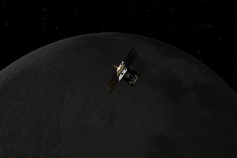 Concepción artística de la misión 'GRAIL' de la NASA.  JPL-Caltech