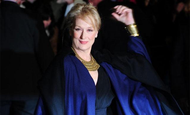 Meryl Streep, a su llegada anoche a la premiere de 'La dama de hierro'. | Afp