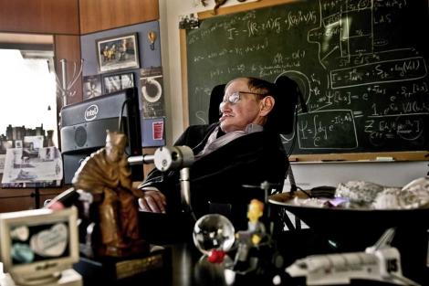 Stepehen Hawking en su despacho de Cambridge, el pasado 14 de diciembre. | Museo de la Ciencia de Londres