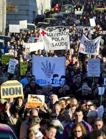 Manifestación en O Irixo. | EFE