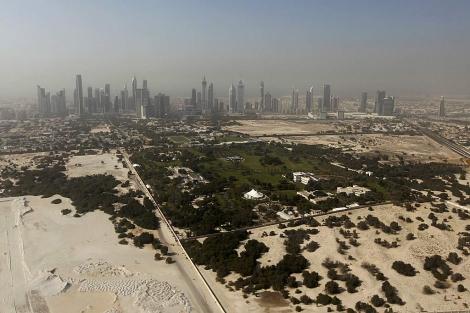 El centro de Dubai, desde el aire. | AFP