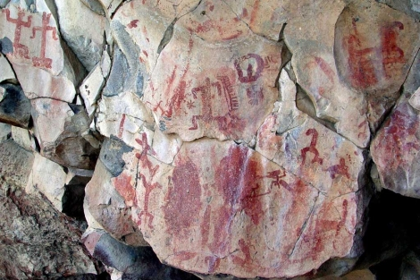 Una de las pinturas rupestres encontradas en Guajanato (México). | Efe
