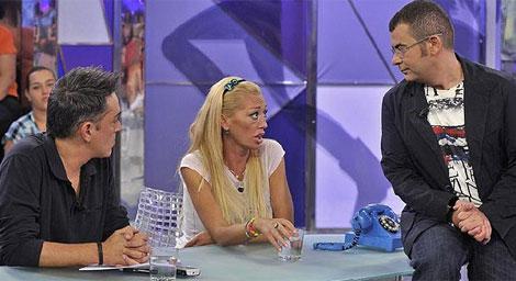 Kiko Hernández, Belén Esteban y Jorge Javier Vázquez, en 'Sálvame'.   Telecinco