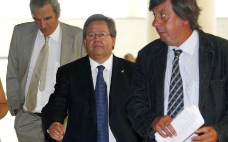 García Bragado, en el juzgado durante una de sus comparecencias. | Antonio Moreno