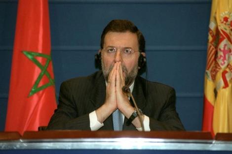 Rajoy, durante su etapa como ministro del Interior, tras la firma de un acuerdo con Marruecos.