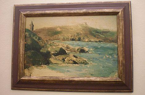Reproducción del cuadro que pintó Picasso de la Torre de Hércules. | M. N.