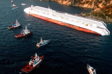 Imagen del 'Costa Concordia'. | Afp