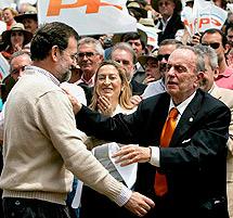 Con Rajoy, en 2005.