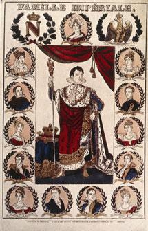 La ilustración muestra el árbol genealógico de Napoleón (c). | EL MUNDO