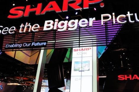 'Stand' de la marca Sharp en Las Vegas. | Afp
