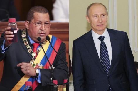 El presidente venezolano, Hugo Chávez, y el premier ruso, Vladimir Putin. | Reuters | Afp