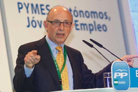 Montoro, en la Convención del PP en Málaga, el pasado fin de semana. | A. Pastor.