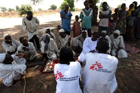 Cooperantes de MSF en un foro sobre prevención de enfermedades. | MSF