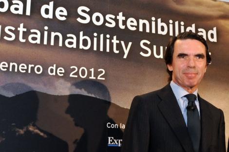 Aznar, en el Foro Global de Sostenibilidad. | EL MUNDO