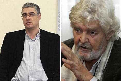 Los líderes de +Galiza y Encontro Irmandiño, Carlos Aymerich y Xosé Manuel Beiras.   Efe