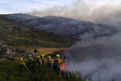 A los brigadistas del Ministerio les venció el contrato en plena fase de incendios.