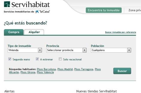 Servihabitat, filial inmobiliaria de La Caixa.