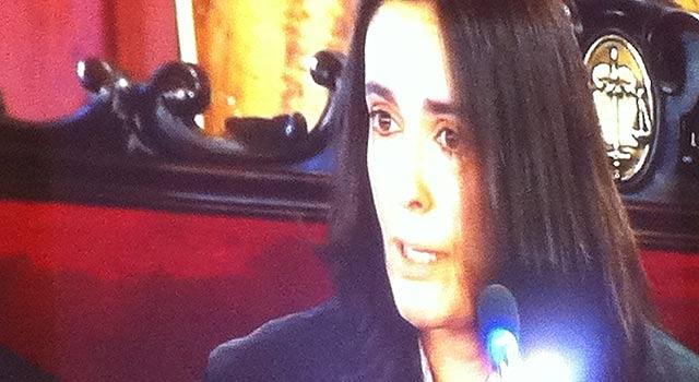 La fiscal Myriam Segura durante la exposición de sus conclusiones | E.M.