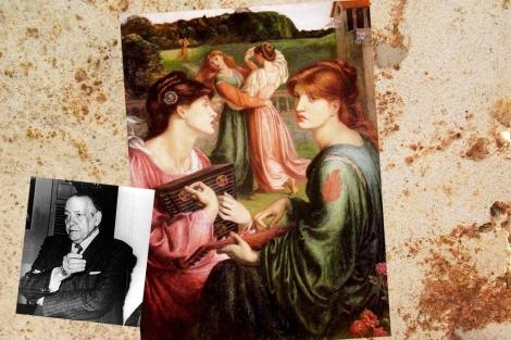'Memories, 1903' , de John White Alexander, y un retrato de Alejo Carpentier.