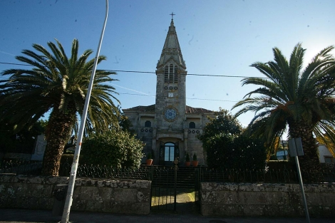 La iglesia de Santa Cristina de A Ramallosa, en Sabarís (Baiona). | A. G.
