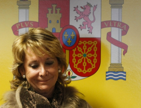 Esperanza Aguirre, presidenta de la Comunidad de Madrid.   José Aymá